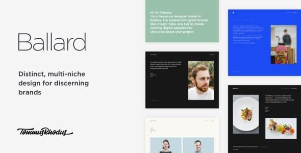 Ballard 1.0.5 – Responsive CV WordPress Theme