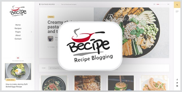 Becipe 1.3 – Recipe Blogging WordPress Theme