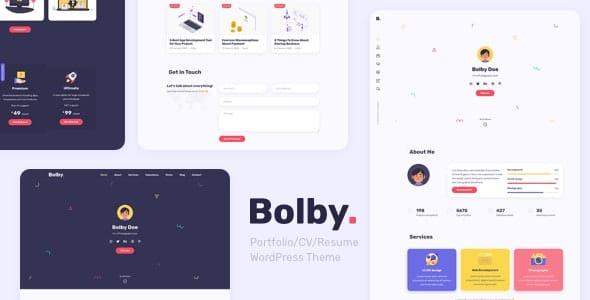 Bolby 1.0.4 – Portfolio/CV/Resume WordPress Theme