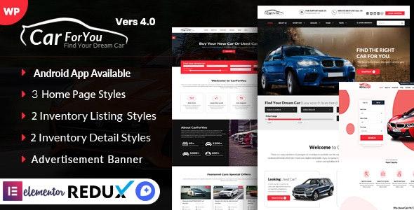 Auto CarForYou 4.0 – Responsive Car Dealer WordPress Theme