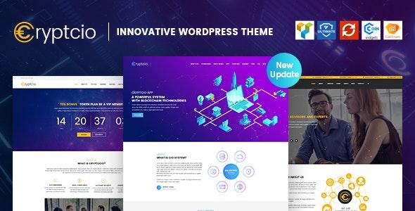 Cryptcio 1.6.5 – Innovative WordPress Theme