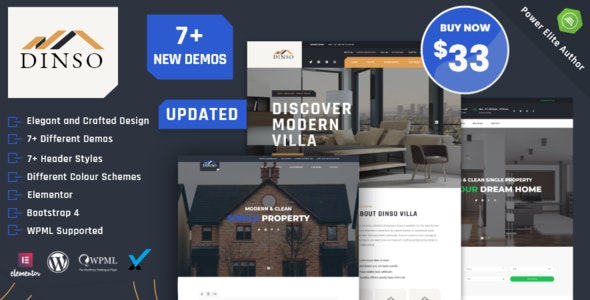 Dinso 1.4 – Single Property & Apartment WordPress Theme