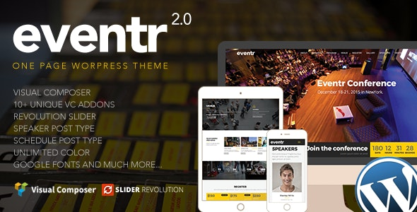 Eventr 2.4 – One Page Event WordPress Theme