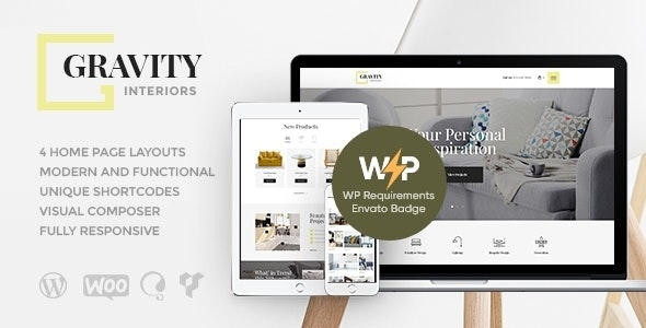 Gravity 1.2.5 – A Contemporary Interior Design & Furniture Store WordPress Theme