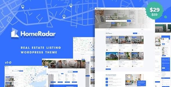 HomeRadar 1.0.4 – Real Estate WordPress Theme