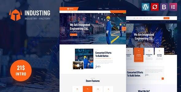 Industing 1.0 – Factory & Business WordPress Theme