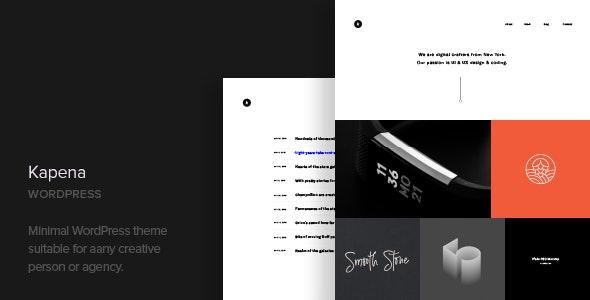 Kapena 1.2 – Minimal Portfolio WordPress Theme