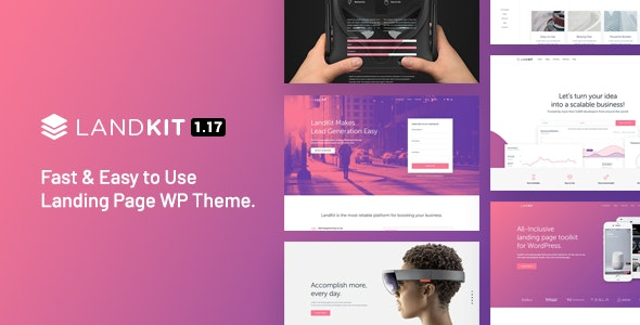 Landkit 1.17 – WordPress Landing Page Theme