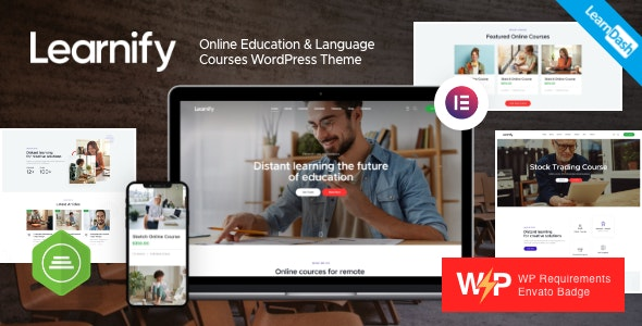 Learnify 1.0 – Online Education Courses WordPress Theme