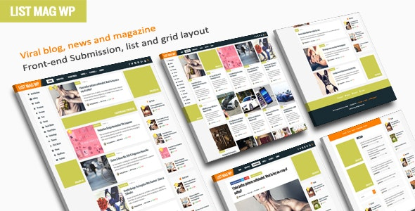 List Mag WP 3.3 – A Responsive WordPress Blog Theme