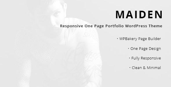Maiden 1.8 – Responsive One Page Portfolio WordPress Theme
