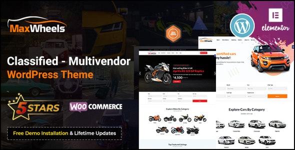 Maxwheels 1.0.1 – Car Dealer Automotive & Classified Multivendor WordPress Theme