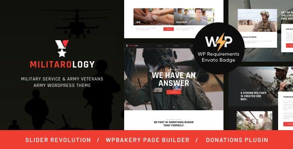Military Service & Army Veterans Army WordPress Theme v1.0.4