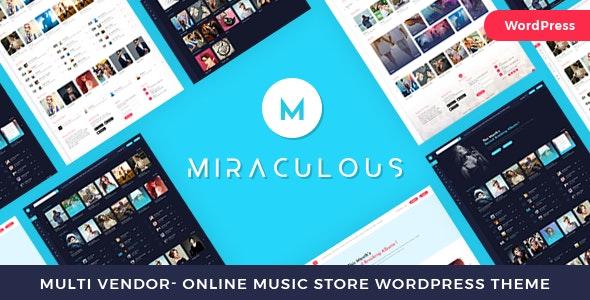 Miraculous 1.1.3 – Multi Vendor Online Music Store WordPress Theme