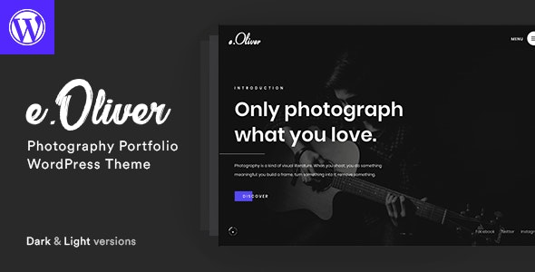 Oliver 1.3.8 – Photography Portfolio Theme