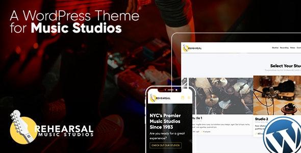 Rehearsal 1.3 – Music Studio WordPress Theme