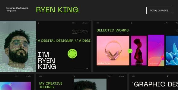 Ryen King 1.0.0 – Personal CV/Resume WordPress Theme