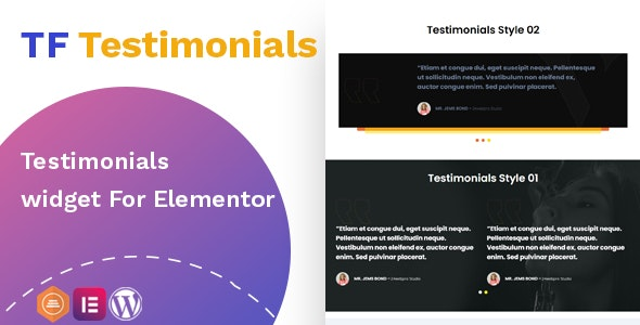 Testimonials widget For Elementor v1.0.0