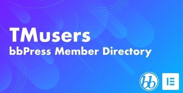 TMusers 1.0 – bbPress Forum Member Directory For Elementor
