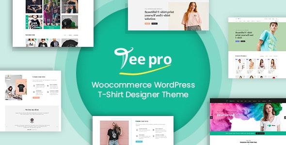 TEEPRO 3.7.2 – Woocommerce Custom T-Shirt Designer WordPress Theme