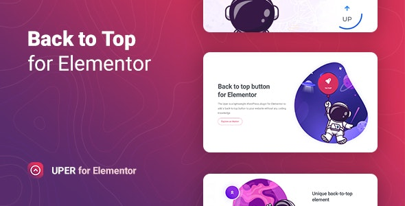 Uper 1.0 – Back to Top Button for Elementor