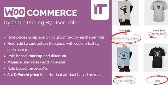 Woocommerce Dynamic Pricing By User Role v1.6