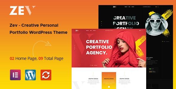 Zev 1.0.5 – Creative Personal Portfolio WordPress Theme