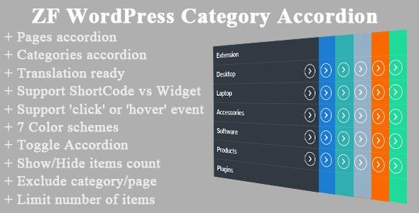 ZF WordPress Category Accordion v2.4