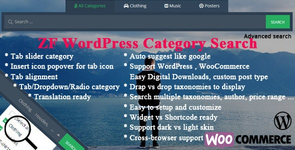 ZF WordPress Category Search v2.7
