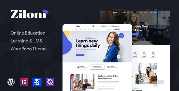 Zilom 1.0.1 – Online Education Learning WordPress Theme