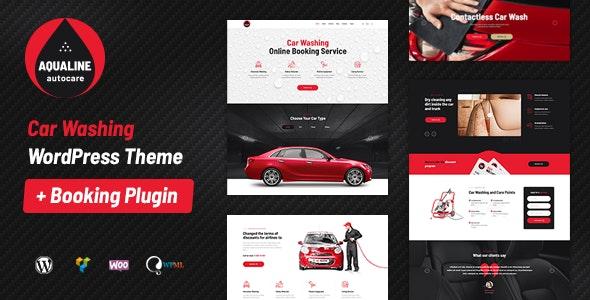 Aqualine 1.2.2 – Car Washing Service with Booking System WordPress Theme
