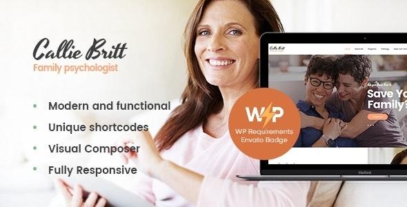Callie Britt 1.0.3 – Family Counselling Psychology WordPress Theme