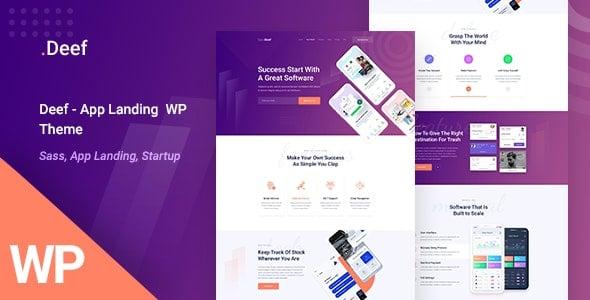 Deef 1.0.0 – App Landing WordPress Theme
