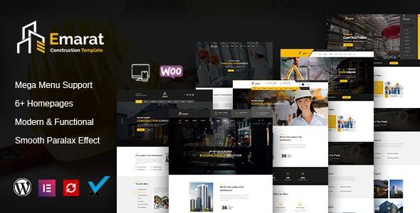 Emarat 1.0 – Construction WordPress Theme