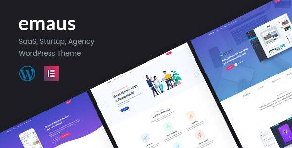 Emaus 1.3.4 – SaaS App and Startup Elementor WordPress Theme