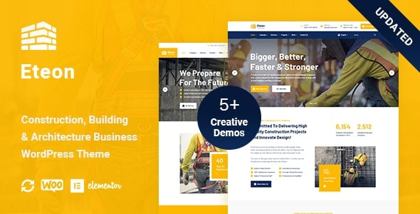 Eteon 1.0.6 – Construction And Building WordPress Theme