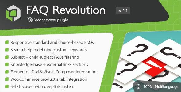 FAQ Revolution 1.1.1 – WordPress Plugin