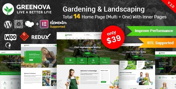 Greenova 2.1 – Gardening & Landscaping WordPress Theme
