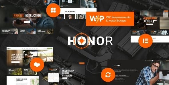 Honor 1.3.0 – Multi-Purpose Shooting Club & Weapon Store WordPress Theme + Elementor