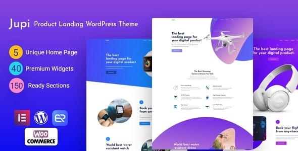 Jupi 1.4.0 – Product Landing WordPress Theme