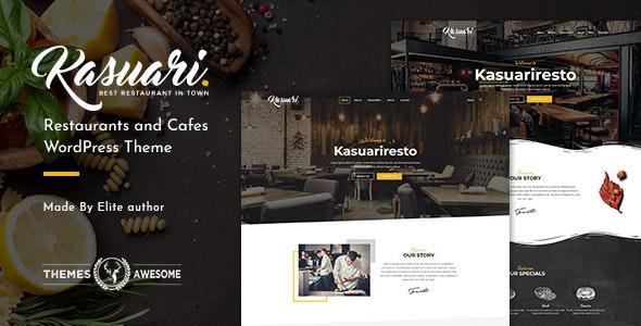 Kasuari 1.7 – Restaurants and Cafes WordPress Theme