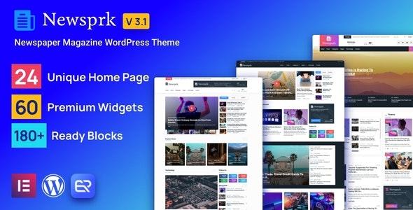 Newsprk 3.2 – Newspaper WordPress Theme