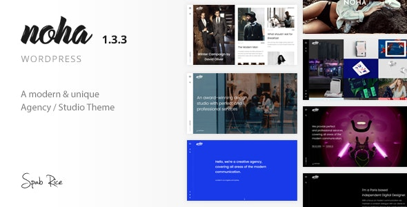 Noha 1.3.3 – A modern Agency WordPress Theme for Creatives