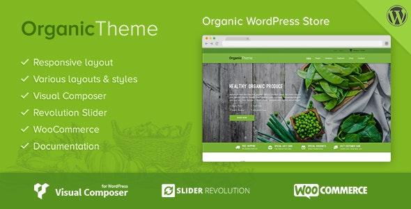 Organic 1.1.9 – Farm & Food WordPress Theme
