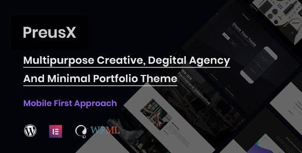 PreusX 1.3.0 – Digital Agency And Portfolio WordPress Theme