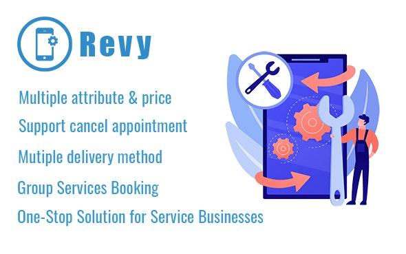 Revy 1.1 – WordPress booking system for repair service industries