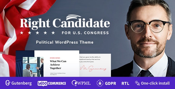 Right Candidate 1.0.4 – Election Campaign and Political WordPress Theme