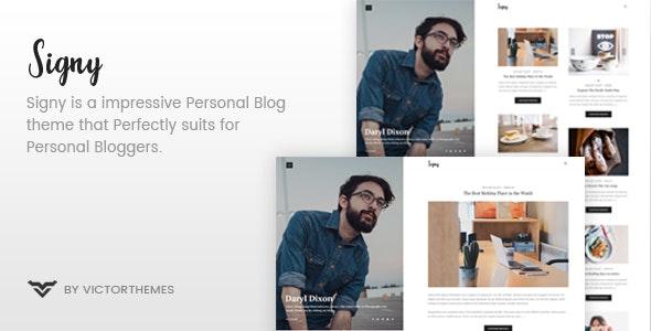 Signy 1.9 – A Personal Blog WordPress Theme