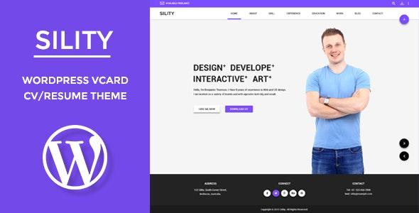 Sility 1.7.2 – vCard, CV & Resume WordPress Theme