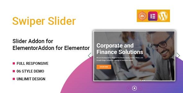 Swiper Slider Widget for Elementor v1.0.0